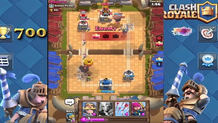 Clash Royale enemy attack
