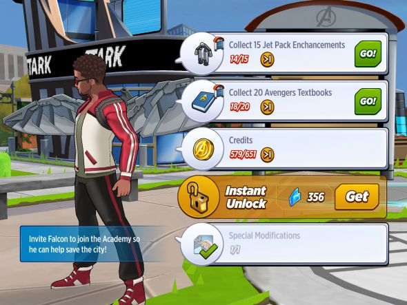 MARVEL Avengers Academy quest
