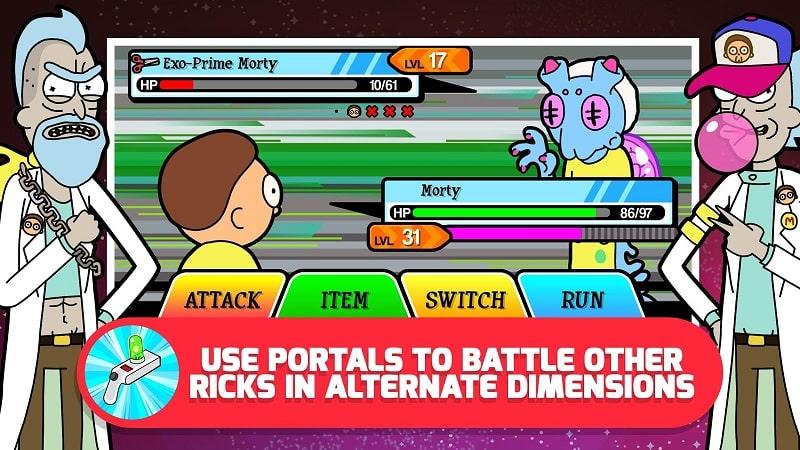 Pocket Mortys battle ricks