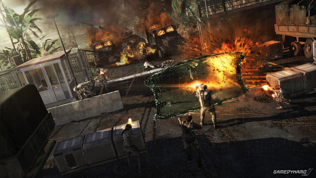 hight resolution of fuse screenshots for xbox 360 and ps3 insomniac games overstrike