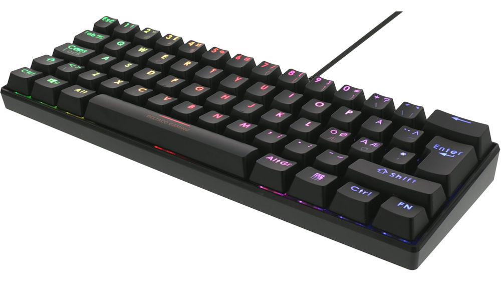 Deltaco Gaming Mini Mechanical Gaming Keyboard RGB