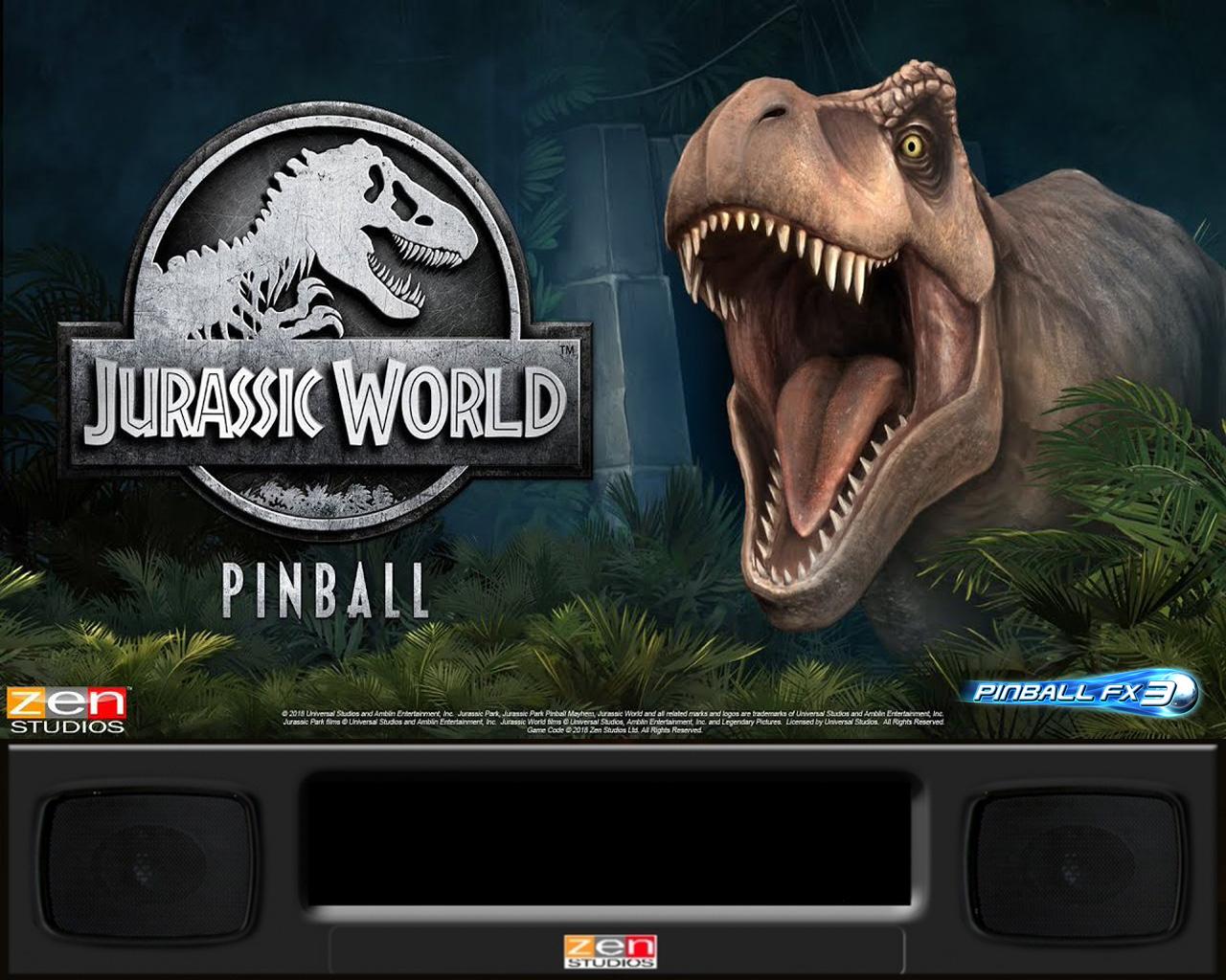 Backglass Pinball Fx3 Jurassic Parck Pinballx Media