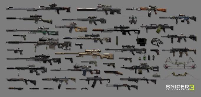 Sniper Ghost Warrior 3 wapen arsenaal