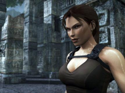 Lara Croft, mouillée virtuellement en temps réel aussi