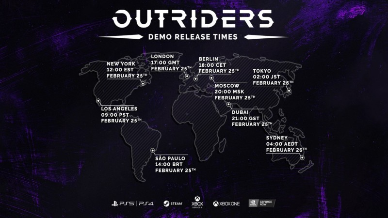 outriders demo times