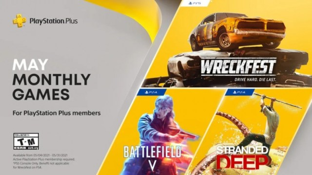 Free PS Plus May 2021 Games Revealed, Including Battlefield V 2