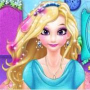 elsa dye hair design - dressup