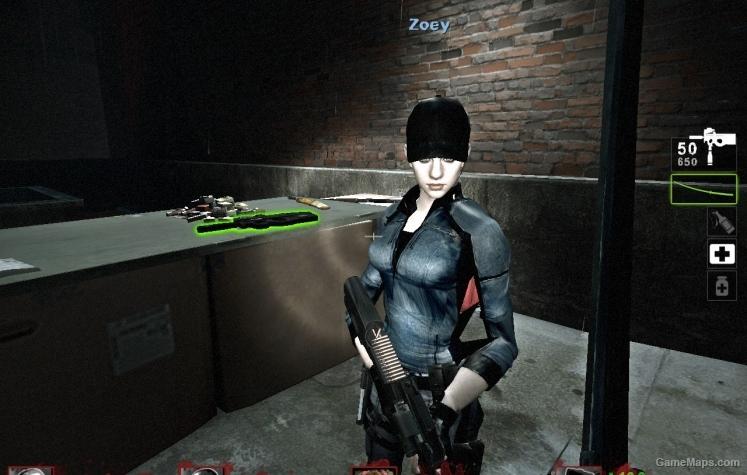 Jill BSAA Zoey Left 4 Dead 2 GameMaps