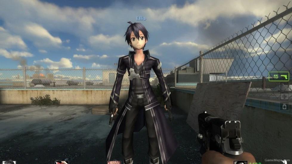 Kirito Replaces Ellis Left 4 Dead 2 Gamemaps