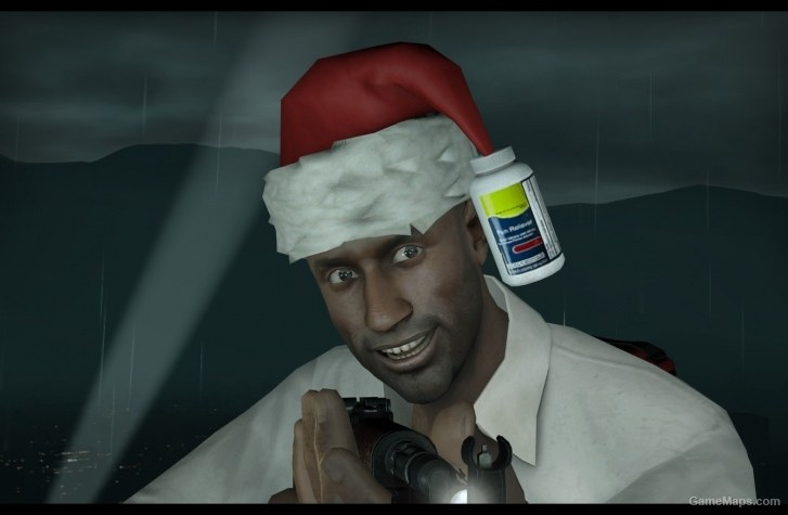 Louis With Christmas Hat Left 4 Dead 2 GameMaps
