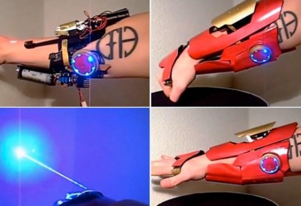 Home Made Iron Man's Laser Glove