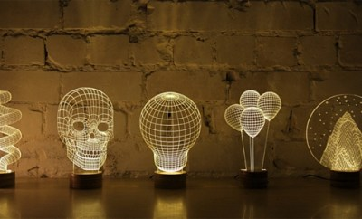 Bulbing 2D Lamps Create The Illusion Of 3D Forms