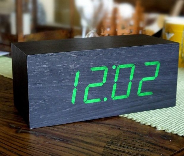 Wood Alarm Clock by Gingko