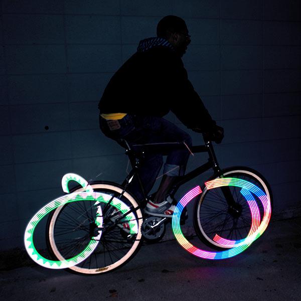 Monkey Light 8-Bit Bike Wheel Light