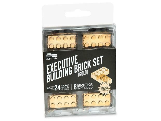 Gold Plated Metal Building Brick Set (2)