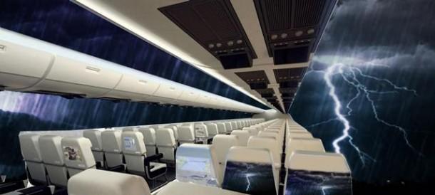 Windowless Airplanes