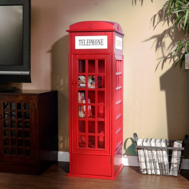 British Phone Booth Cabinet