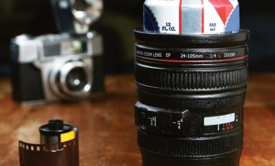 Camera Lens Drink Cooler