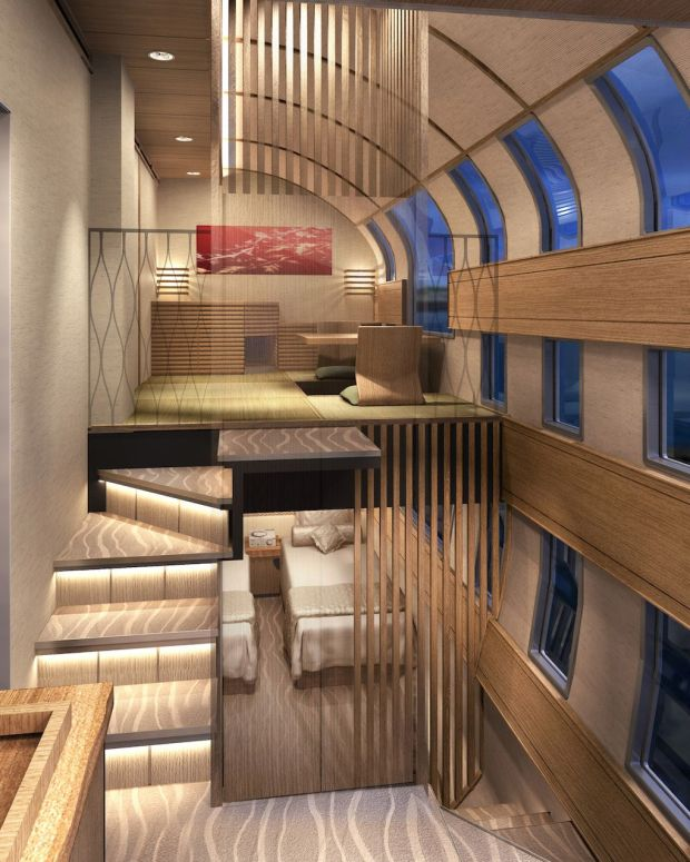 New Luxurious Japanese Train