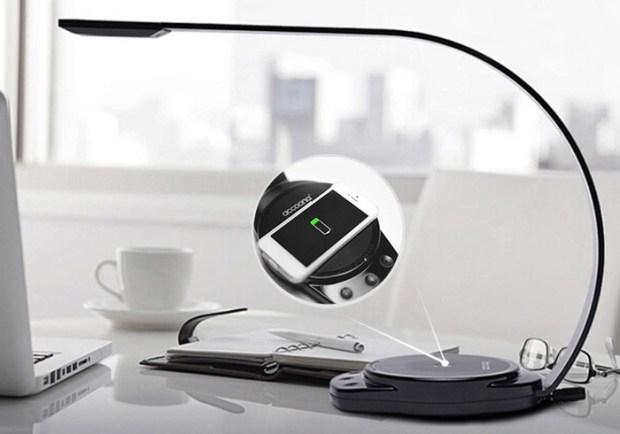 Accoona Wireless Smartphone Charging LED Lamp