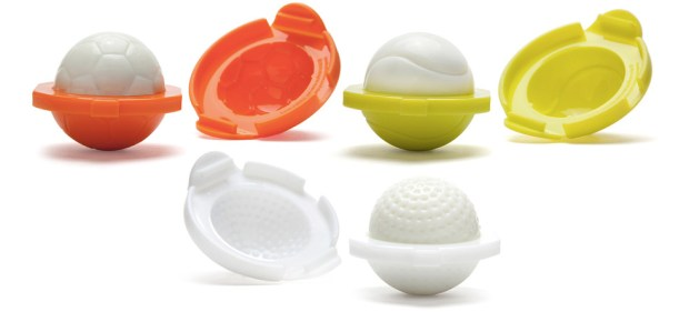 Molds To Make Eggs Shaped Like Golf, Tennis Or Soccer Balls