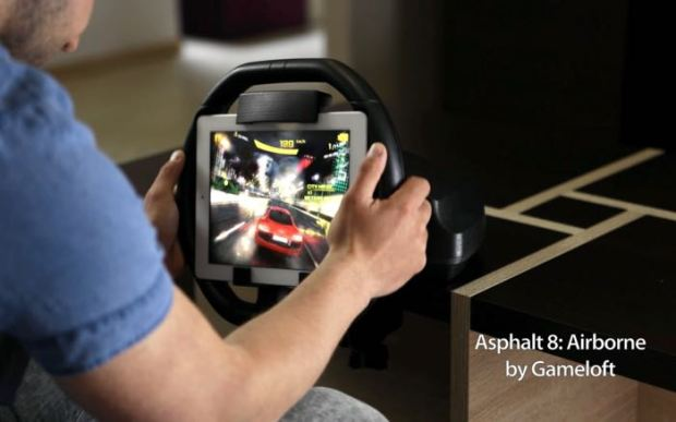 KOLOS Is A Racing Wheel For The iPad