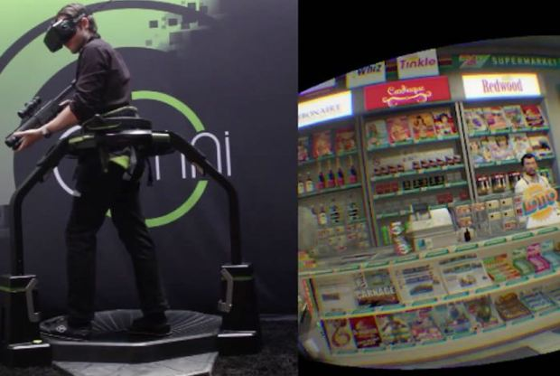 Grand Theft Auto 5 Using Oculus Rift And Omni-Directional Treadmill (video)