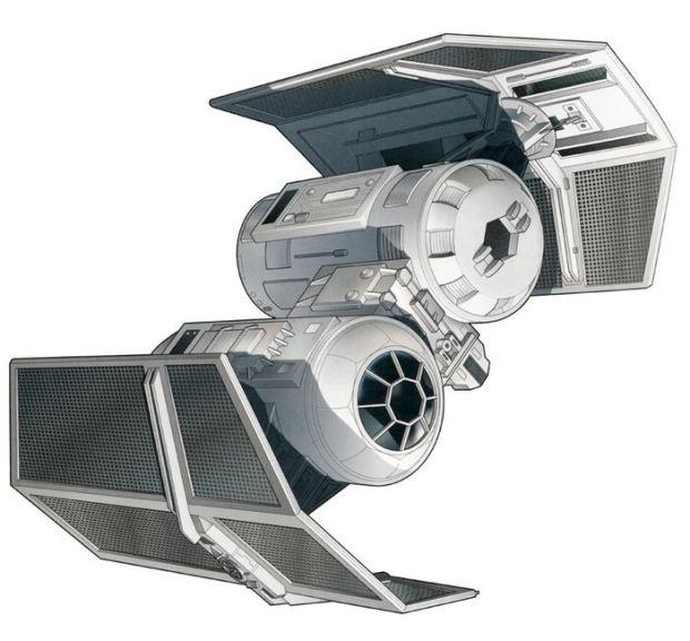 3D Printed Star Wars TIE Bomber