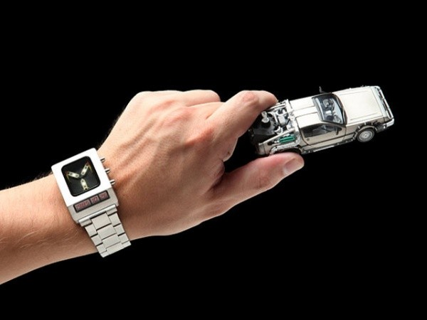 Blinking Light Flux Capacitor Wristwatch
