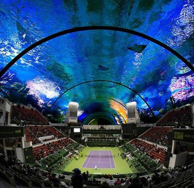 Dubai Will Soon Have An Underwater Tennis Stadium