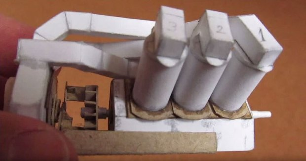 Working V6 Engine Out ofPaper
