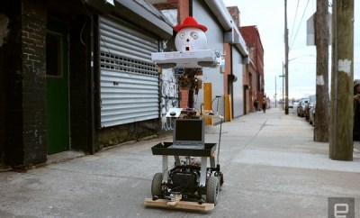 Pizza And Beer Delivering Robot