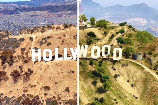 Grand Theft Auto V vs. Google Earth