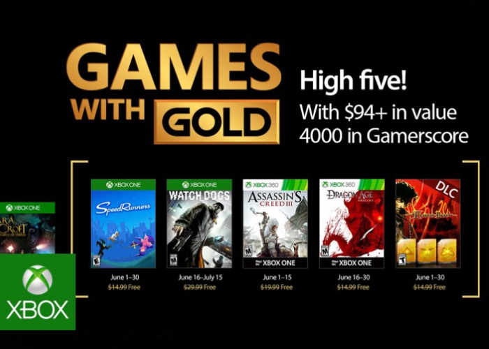Free Xbox Gold Games For June 2017 Revealed