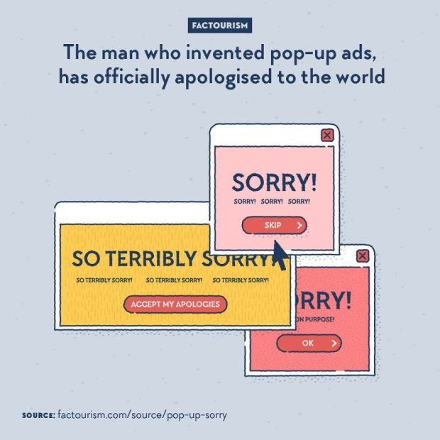 pop up apology