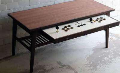 Coffee Table Turns Into Cool Arcade