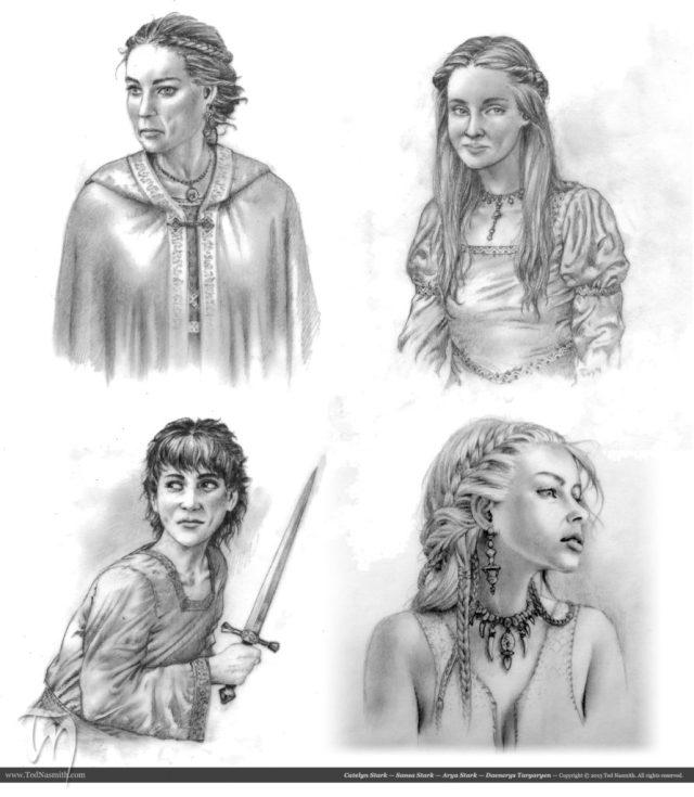 TN-Catelyn_Sansa_Arya_Daenerys