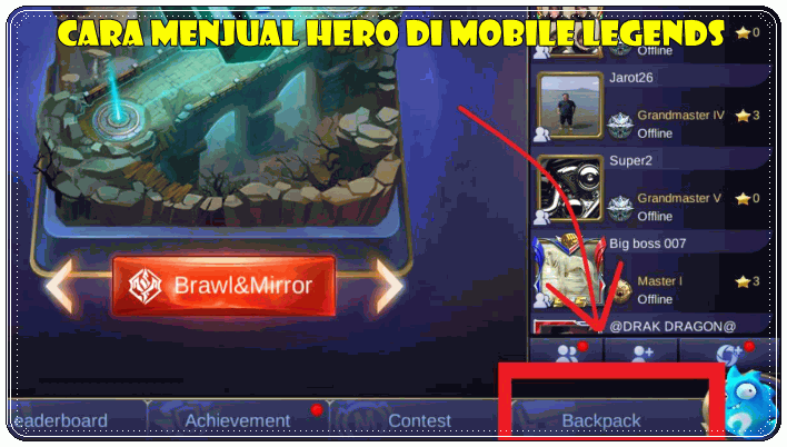 Cara Menjual Hero Mobile Legends