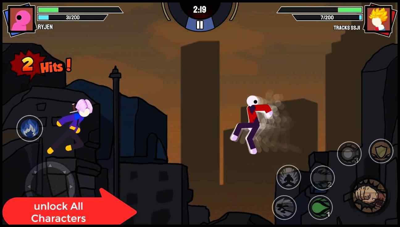 Download Stickman Warriors Super Dragon Shadow Fight Apk