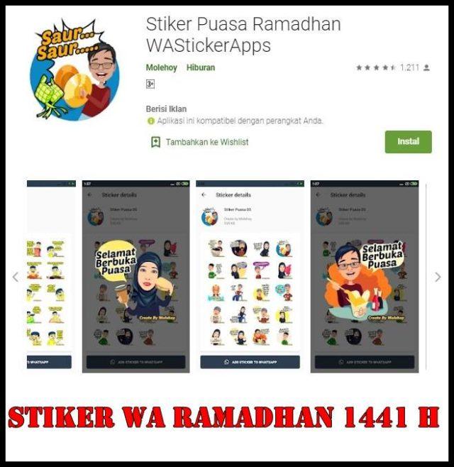 Stiker WA Ramadhan