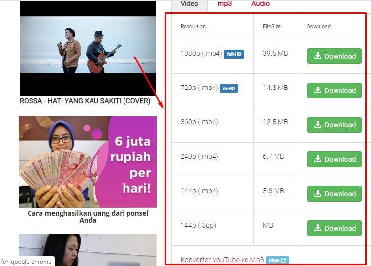 Download Video Youtube Dengan Y2mate