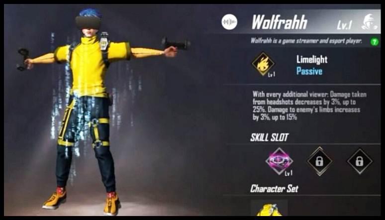 Cara Mendapatkan Karakter Wolfrahh Free Fire