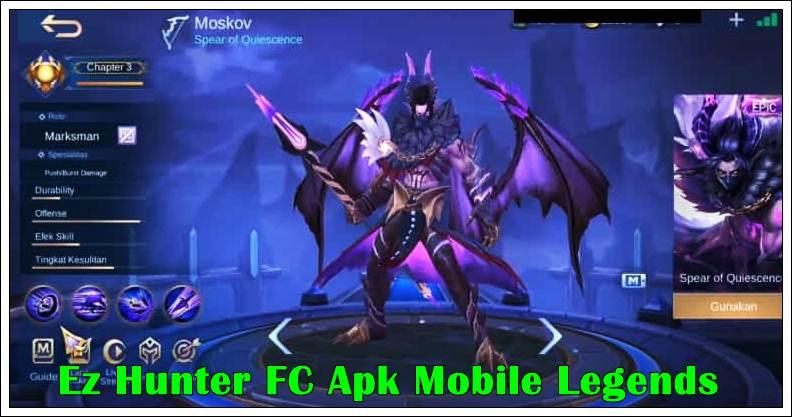 Ez Hunter FC Apk Unlock Skin Mobile Legends