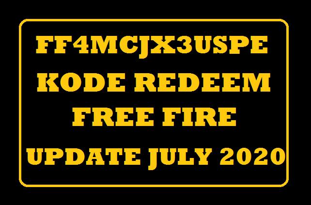 FF4MCJX3USPE Kode Redeem FF