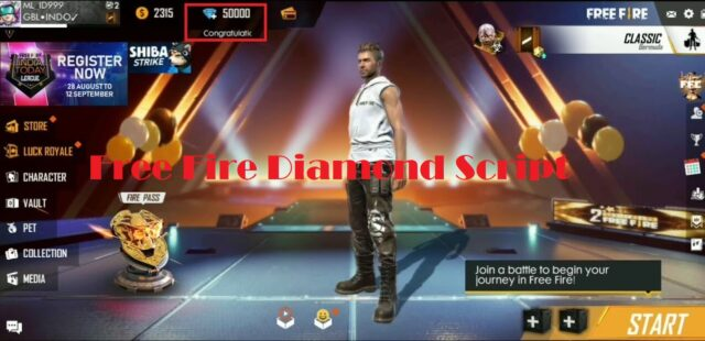 Free Fire Diamond Script
