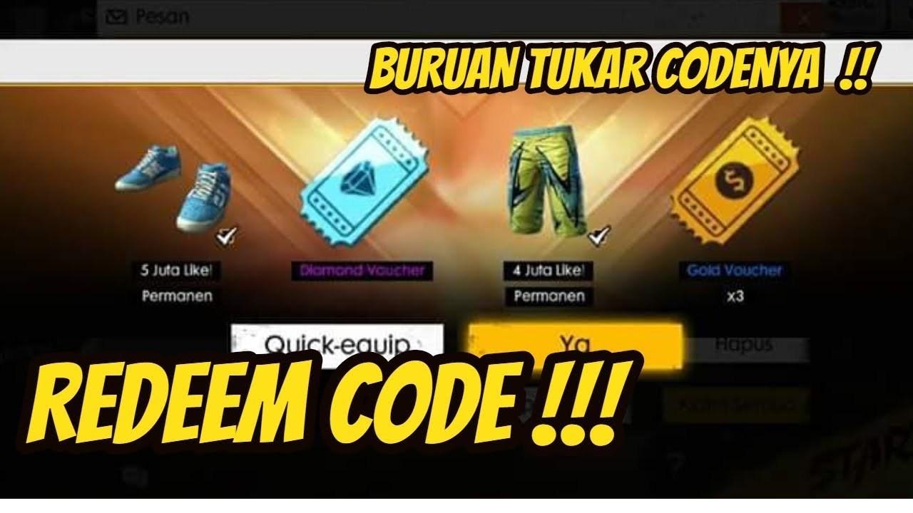 Reward FF Pxtlelxdoo9l Kode Redeem Terbaru