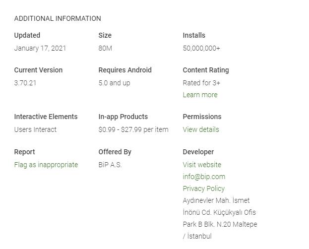 Informasi Aplikasi BIP