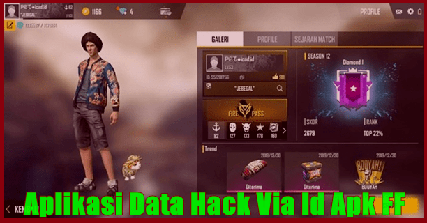 Data Hack Via Id Apk FF