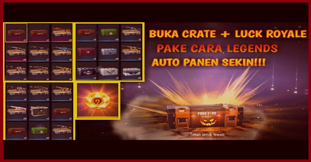 Hadiah Lucky Crate Free Fire