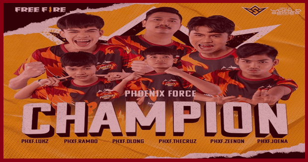 Phoenix Force FF Juara Dunia Free Fire 2021